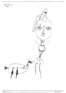 Paul Klee Glasfiguren, Figures der Verre, Glass Figures Postcard