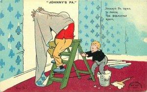 Artist Comic Humor Davidson Bros C-1910 Tom B Wall Paper Postcard 11036