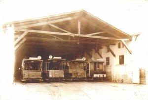 Postcard Transport history Romania Bucharest vagon tramvai tractiune cai depoul