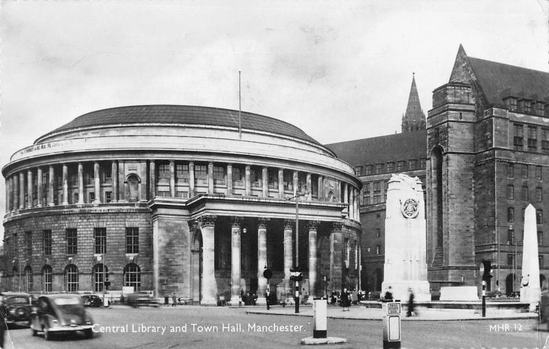 BR77281 central library and town hall manchester real photo uk