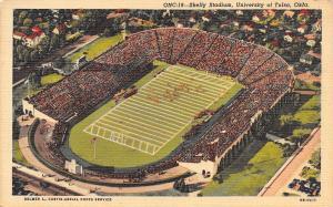Tulsa Oklahoma~University of Tulsa~Skelly Stadium~Football Game~1948 Linen PC