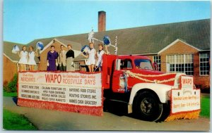 Chattanooga, Tennessee Postcard WAPO Radio Parade Float Rossville Days c1950s