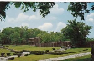 Kentucky Harrodsburg Historic Log Fort At Pioneer Memorial State Park