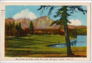 Canada - Alberta. 16th Fairway & Green, Jasper Lodge Golf Course