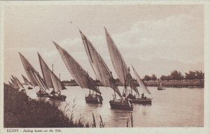 EGYPT, 1900-1910´s; Sailing Boats On The Nile