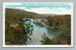 River Bridge at Round Springs State Park State 19 Shannon MO Missouri Postcard