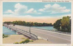 Arkansas River Bridge, Dodge City, Kansas, 30-40s