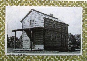 Log Cabin, Samuel Hills Residence, Two Story RPPC Postcard, New Salem State Park