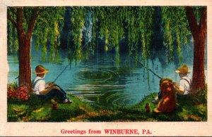 Pennsylvania Greetings From Winburne 1952