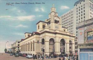 Florida Miami Gesu Catholic Church Curteich