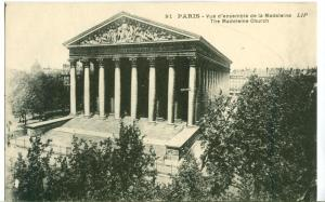 France, Paris, The Madeleine Church, early 1900s unused