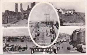 Tucks Scotland Arbroath Multiple View Real Photo