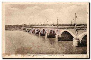 Old Postcard Bordeaux bridge on the Garonne