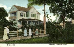 suriname, BETHESDA, House of the Director (1910s) Moravian Mission Postcard
