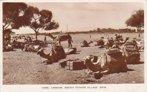 RP ; Camel caravan, Sheikh Othman Village , Aden , Yeman , 30-40s