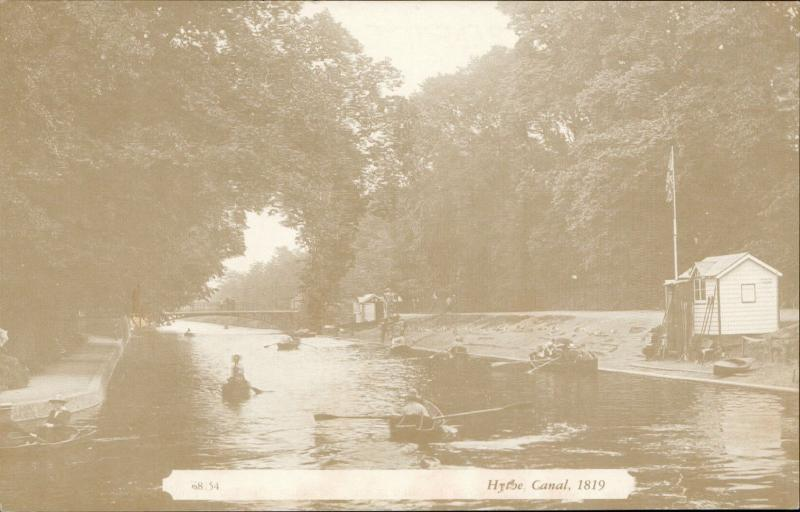 Hythe canal 1819 reproduced from The Francis Frith Collection
