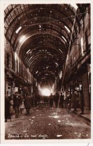 Syria Damas Damascus La Rue Droite Street Scene At Night The Straight Street ...