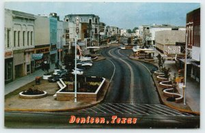Denison Texas~Main Street~State Theater~Babcock Bros Store~Variety~1960s Cars