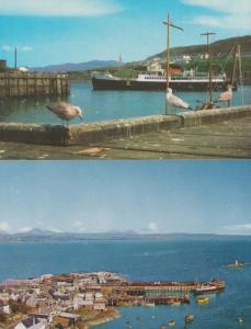 Mallaig Harbour & The Sound Of Sleat 2x Postcard s
