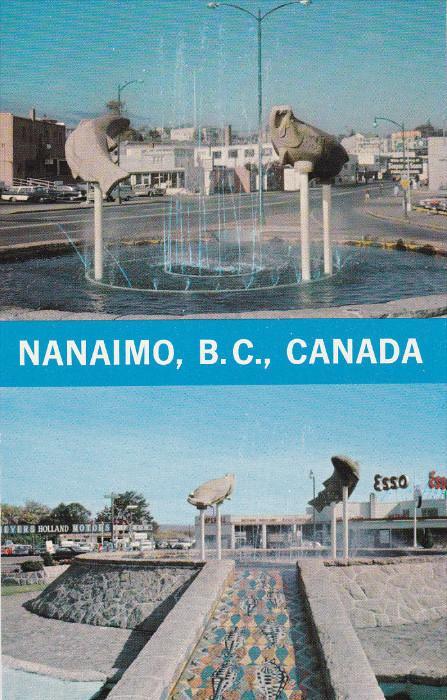 NANAIMO, British Columbia, Canada, 1940-1960's; Centennial Fountain