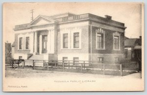 Missoula Montana~Carnegie Public Library~Fenced In Yard~Now Art Museum~c1905
