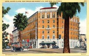California San Jose Hotel Sainte Claire San Carlos and Market Streets