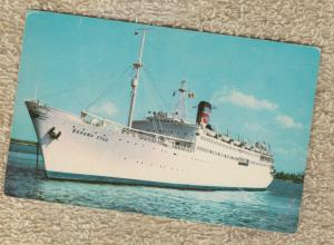 Advertising Postcard BAHAMA STAR Cruise Ship Eastern Steamship Line
