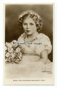 r2348 - Young Princess Margaret Rose of York in Party Dress & Roses -  postcard