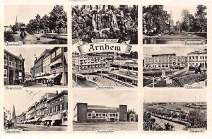 Netherlands Arnhem Waterval Sonsbeek Stationsplein Provinciehuis Trolleybus Cars