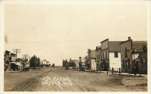 c1920 RPPC; Town View Main Street Scene Oriska ND Horsedrawn Barnes County
