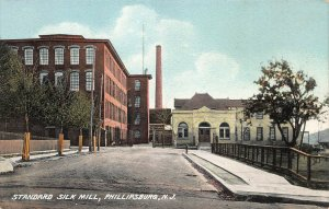 Standard Silk Mill, Phillipsburg, New Jersey, Early Postcard, Unused