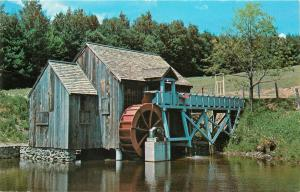 Old Mill Water Wheel Guildhall Vermont VT Postcard