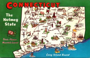 Connecticut Map From The Nutmeg State
