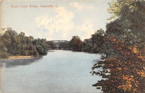 Zanesville Ohio~Brush Creek Through Truss Bridge~1908 Edmiston Book Co Pub~PC
