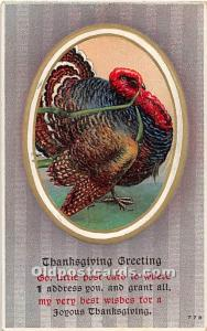 Thanksgiving Old Vintage Antique Postcard Post Card Postal Used Unknown