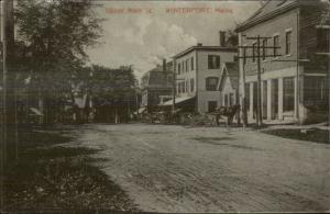 Winterport ME Upper Main St. c1910 Postcard