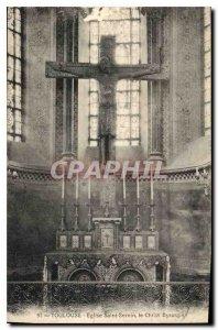 Postcard Old Toulouse Saint Sernin Church Christ Byzantine