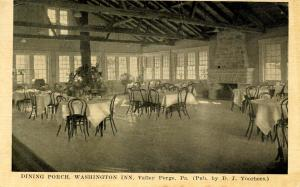 PA - Valley Forge. Washington Inn, Dining Porch