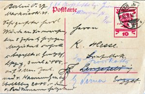NICE POSTAL CANCEL ON H & G # 115 ... dated 1919 BERLIN GERMANY