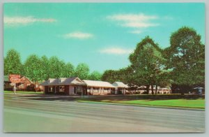 Ruston Louisiana~Nice Shade Trees~Realistic Clouds~Lincoln Hotel Courts~1950s
