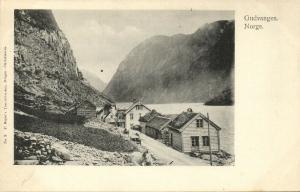 norway norge, GUDVANGEN, Panorama (1910s)