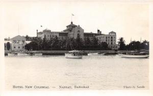 E48/ Foreign RPPC Postcard Caribbean Nassau Bahamas Hotel New Colonial c30s  1