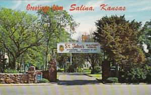 Kansas Greetings From Salina St John's Military School