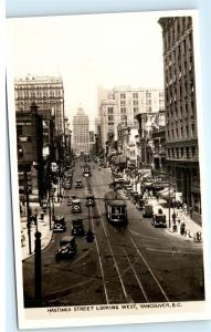*W. Hasting Street at Cambie East Vancouver Canada Vintage Photo Postcard C42