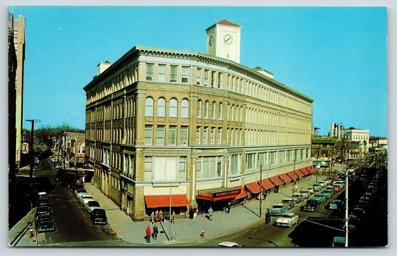 Asbury Park New Jersey~Steinbach Company Department Store~Clock Tower~1950s Cars
