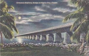 Florida Pigeon Key Overseas Highway Bridge 1946