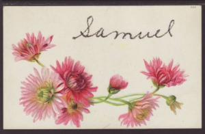 First Name Samuel Flowers Postcard 4424