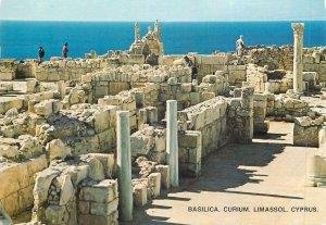 Postcard Cyprus Basilica Limassol Curium