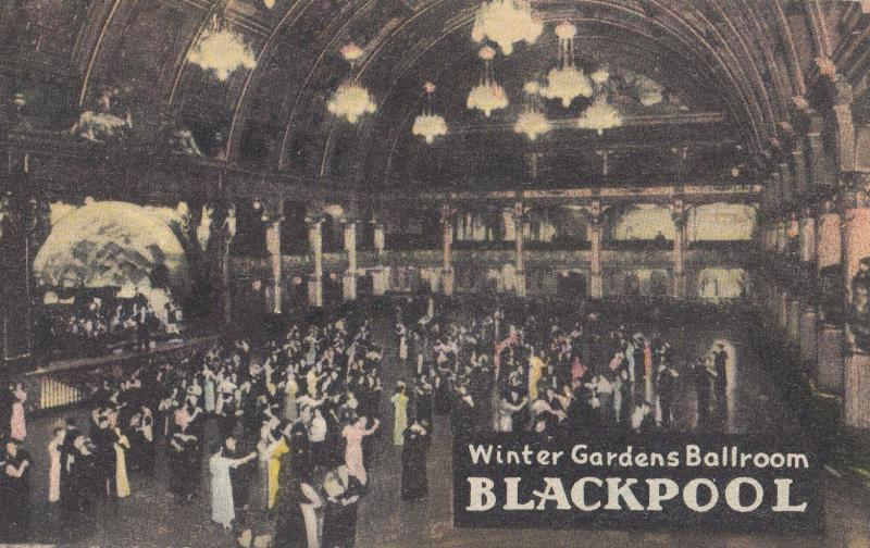 Winter Gardens Ballroom Blackpool Antique Character Old Postcard