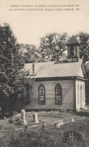 CONFLUENCE , Pennsylvania , 1920-30s ; Jersey Church and graveyard